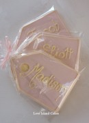 Rose Luggage Tag Cookies
