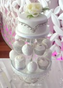 White & silver cake collection