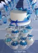 Shades of Blue cupcakes