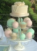 Mint & Pink Temari and cupcakes