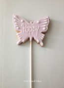 Lilac Butterfly cookie lollipop