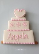 Wedding cake cookie in pink