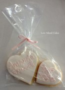 Two heart cookie bags