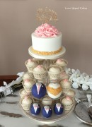 Navy, Pink and Gold Wedding Party