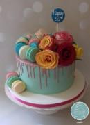 Drip Macaron & Roses