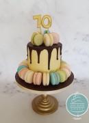 70th Macaron cake