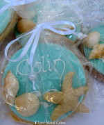 Aqua Beach Cookie Bag