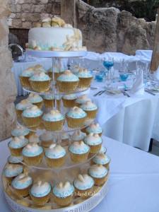 Aqua Beach Cupcakes