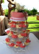 Fuchsia Swirls Cupcakes
