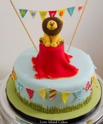 Georgie's Circus Lion Birthday Cake