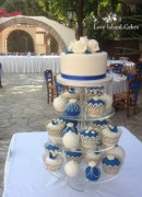 Royal Blue Temari and cupcakes