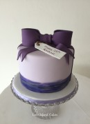 Purple sugar bow