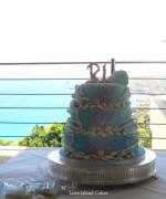 Laura's Surf Wedding Cake