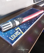 Light Saber Birthday Cake