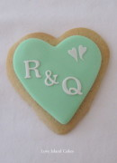Mint Initials Cookie