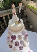 Plum Temari Wedding Cupcakes