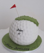 Putting Green Golf Ball Cake