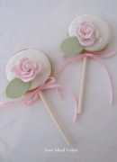 Rose Cookie Pops