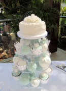 Sage and Pearls Wedding Cupcakes