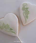 Sage & White Floral Cookie