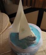 Sailing Boat Baptism Cake