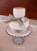 Silver & Small Wedding Cake