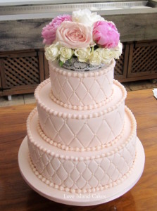 Vintage Quilts Wedding Cake