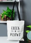 Check Meowt Tote