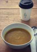 Roasted Aubergine & Carrot Soup