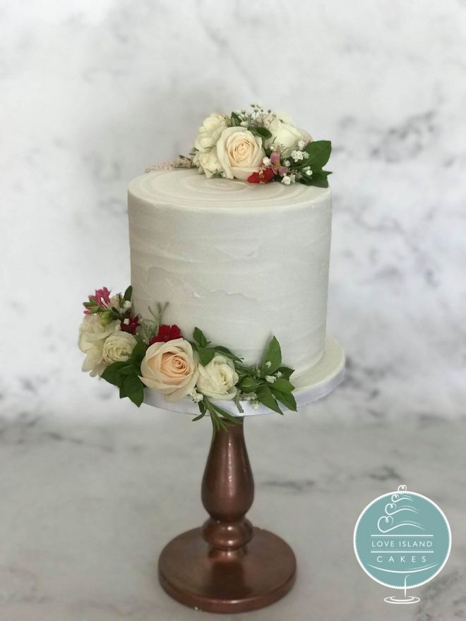 Herbs & Fresh flowers extra deep single tier