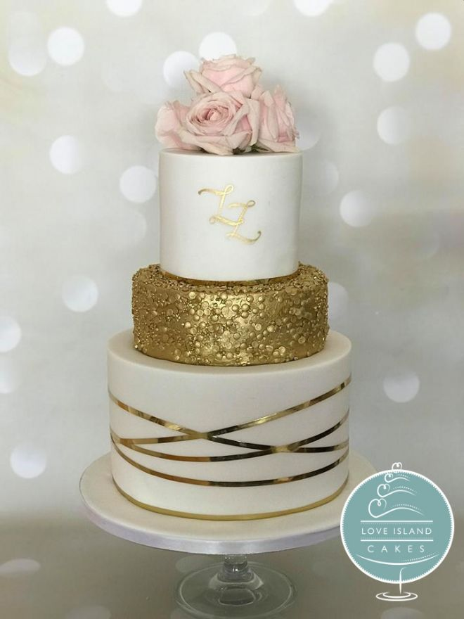Gold monogram & sequins