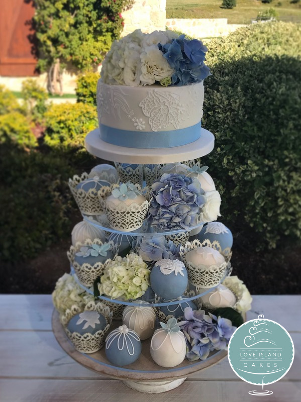 Blue & Ivory Hydrangea at Liopetro