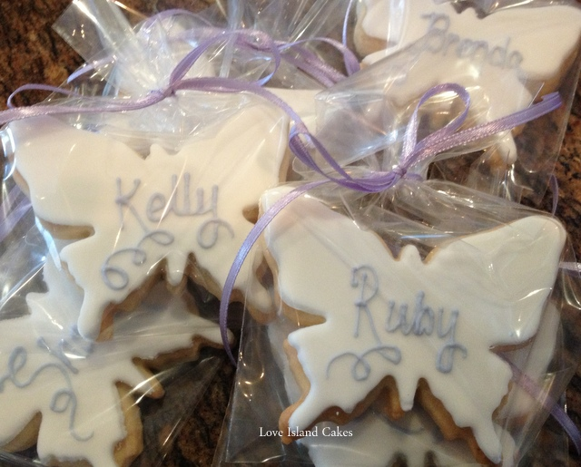 Lilac Butterfly Cookies