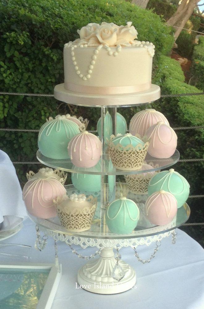 Mint & Pink Temari and cupcakes