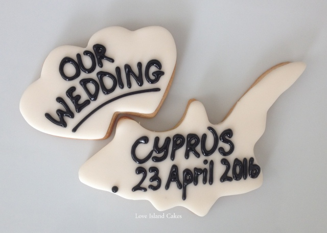Our Wedding in Cyprus Cookies
