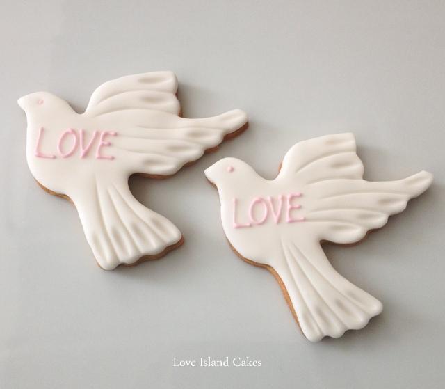 Love Dove Cookies