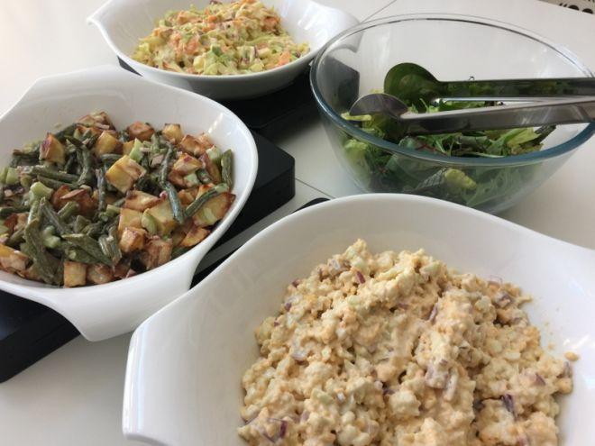 Mixed salads (summer lunch menu)