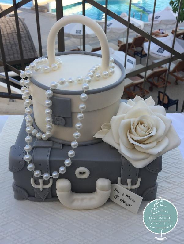 Grey & Ivory suitcase
