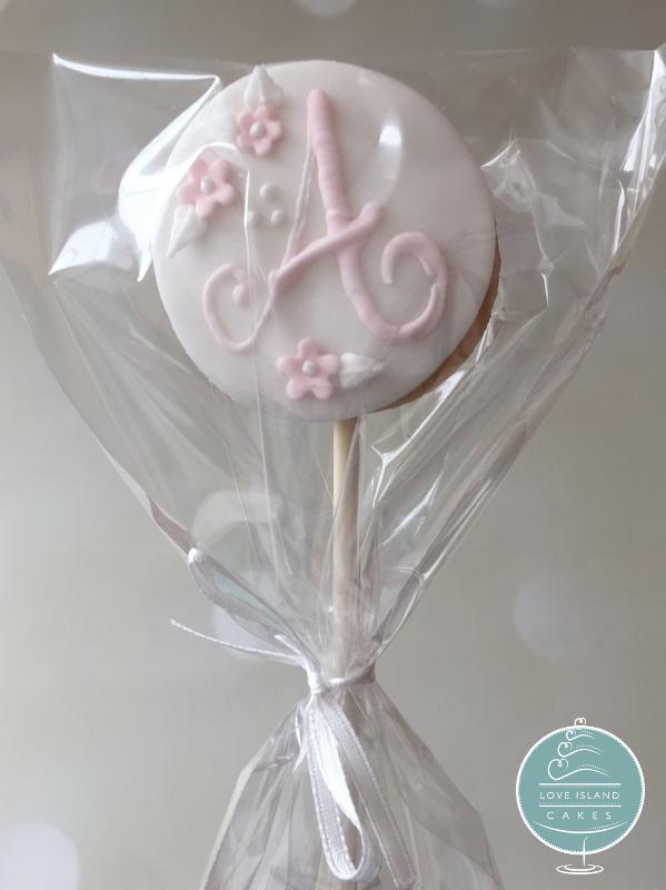 Monogram lollipop