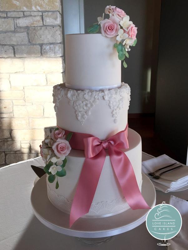 Rose Pink Three tier