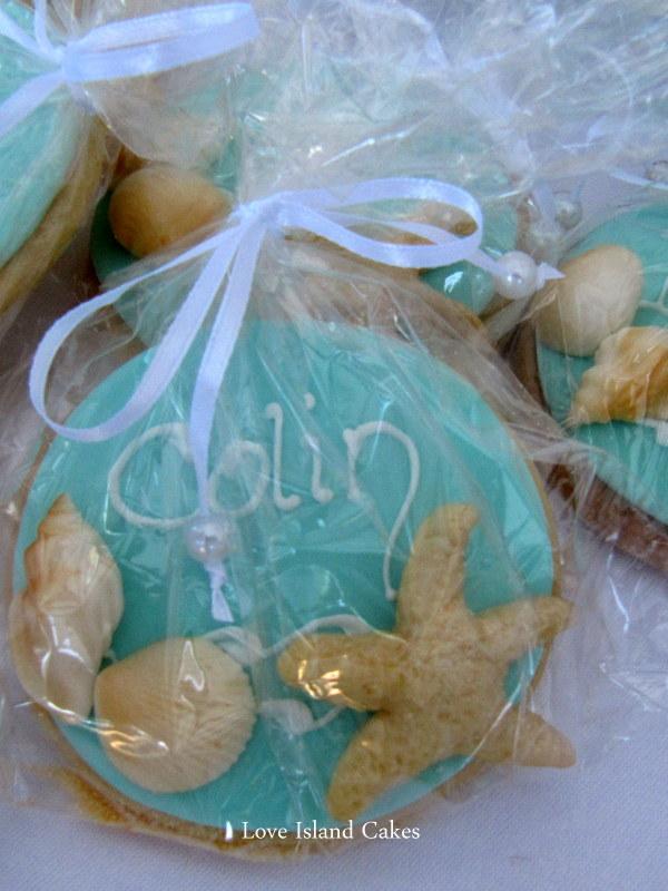 Aqua Beach Cookie Bag