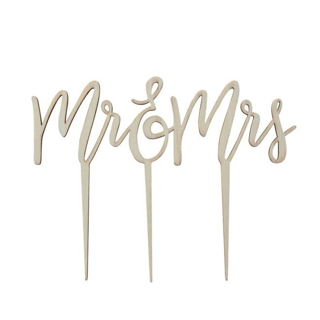 wooden Mr & Mrs topper