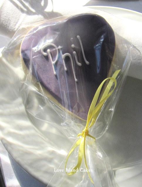 Deep Purple Cookie Wedding Placecards