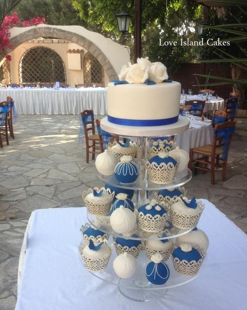 Royal Blue Temari and cupcakes