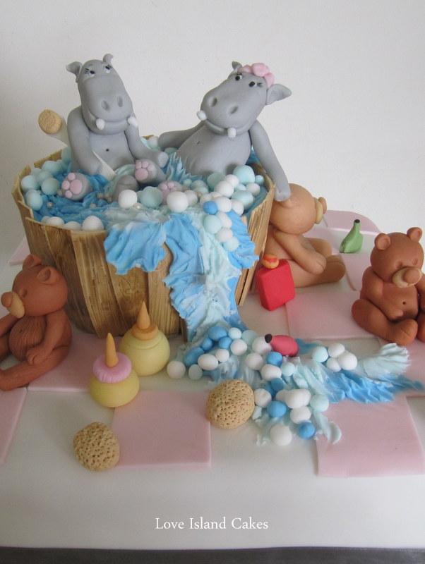 Hippo Jacuzzi Cake