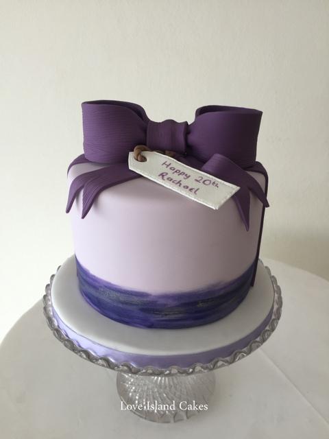 Purple sugar bow