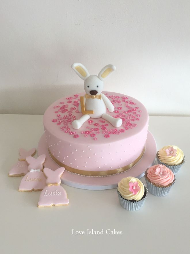 Bunny Christening cake