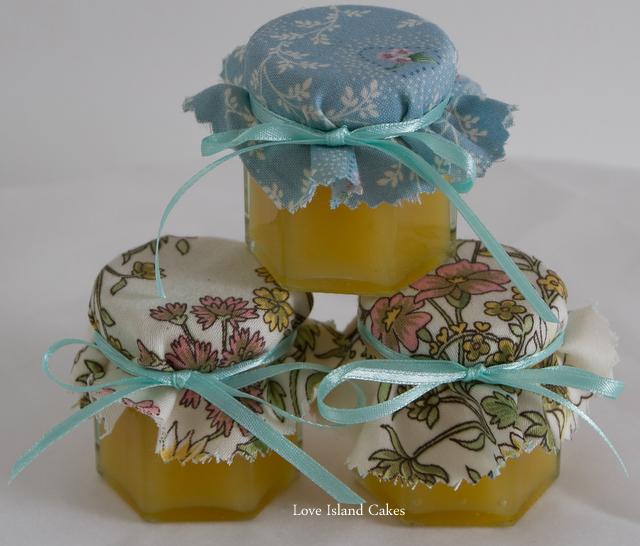 Mini jars of Lemon Curd