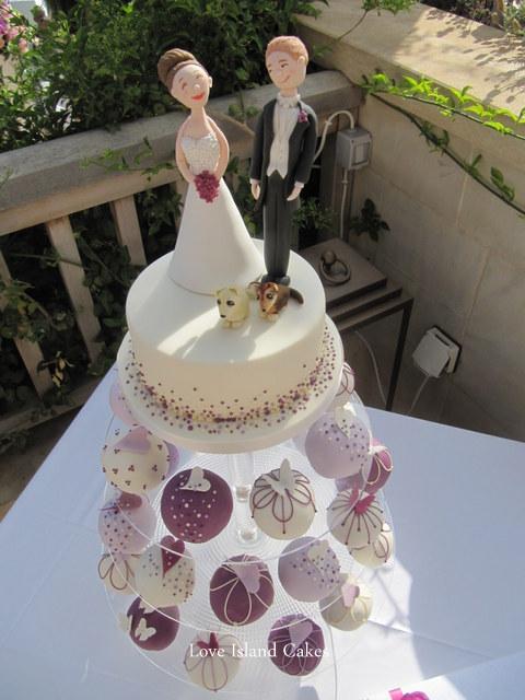 Plum Temari Wedding Cupcakes